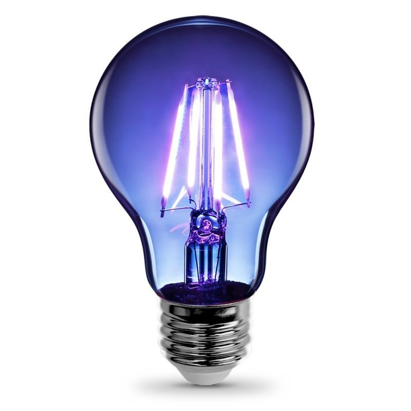 Feit Electric Vintage LED Filament Light Bulb A19 Transparent Blue Decorative Lights Up Blue A19/TB/LED