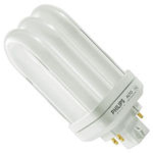 PHILIPS 4-pin 18W CFL Compact Flourescent GX24q-2 Base 3500k PL-T18W/835/ALTO