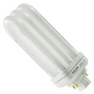 PHILIPS 4-pin 33W CFL Compact Flourescent GX24q-4 Base 3000k  PL-T XEW 42W/830/4P/ALTO 33W