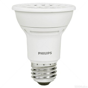 Philips 8W PAR20 LED 3000K Warm White Narrow Flood  8PAR20/AMB/3000 DIM 120V