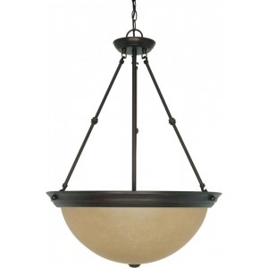 Nuvo 60/1263 20-Inch Pendant With Champagne Glass, Mahogany Bronze
