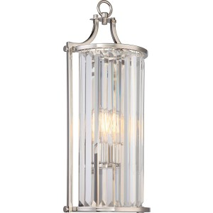 Nuvo Lighting 60/5767 1 Light Crystal Wall Sconce (Long) w/ 60w Vintage Lamp Included Krys Collection