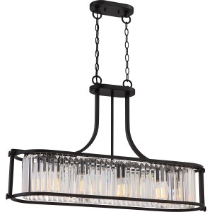 Nuvo Lighting 60/5775 4 Light Crystal Trestle w/ 60w Vintage Lamps Included Krys Collection
