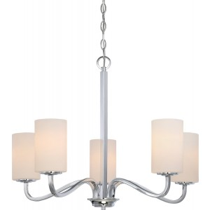 Nuvo 60/5805 5-Light Hanging Fixture in Polished Nickel Finish