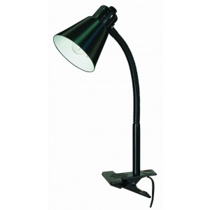 Nuvo 60/843 Clip on Goose Neck Lamp, Black