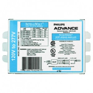 Advance SmartMate 42W CFL 4-pin Fluorescent 2-Lamp Ballasts ICF-2S42-M2-LD