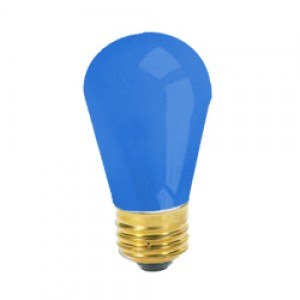 11 Watt Ceramic Blue S14 130 Volt Medium Base Sign Bulb 6 PACK