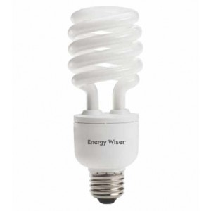 23W BULBRITE Dimmable T3 CFL Spiral E26 Base 2700K Warm White CF23C/WW/DM