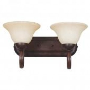"21-3/4"" 2 Light Bath Vanity - Rubbed Bronze"