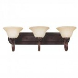 "26-3/4"" 3 Light Bath Vanity - Rubbed Bronze"