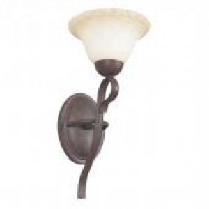 "7"" 1 Light Wall Sconce - Rubbed Bronze"
