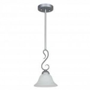 "7-1/2"" 1 Light Stem Pendant - Satin Nickel"