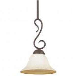 "7-1/2"" 1 Light Stem Pendant - Rubbed Bronze"