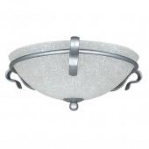 "16"" 2 Light Flush Mount - Satin Nickel"