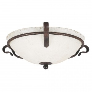 "16"" 2 Light Flush Mount - Rubbed Bronze"