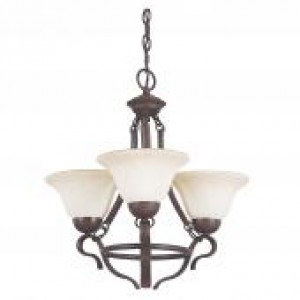 "19-1/4"" 3 Light Chandelier - Rubbed Bronze"