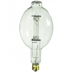 GE 41826 1000W Multi-Vapor Metal Halide BT56 Mogul Base 4000K Cool White MVR1000/U
