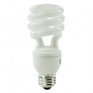 GE 15831 15W CFL Spiral Medium Base 2700K Warm White FLE15HT3/2/827