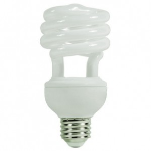 GE 15834 20W CFL Spiral Medium Base 2700K Warm White FLE20HT3/2/827
