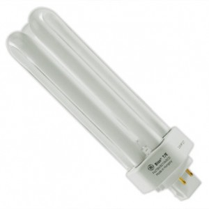 42W GE 4-pin Triple CFL Fluorescent 3000K Warm White GX24q-4 Base