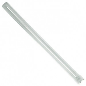 55W GE 4-pin Long Single CFL Fluorescent 3000K Warm White 2G11 Base