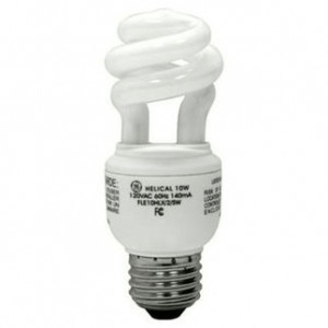 GE 15829 10W CFL Spiral Medium Base 2700K Warm White FLE10HT3/2/827