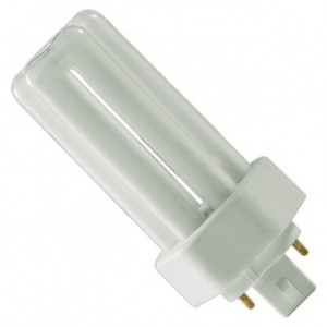 18W GE 4-pin Triple CFL Flourescent 4100K Cool White GX24q-2 Base