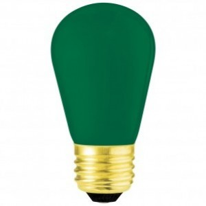 11 Watt Ceramic Green S14 130 Volt Medium Base Sign Bulb 6 PACK