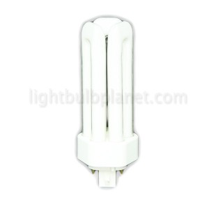 18W PLT Compact Fluorescent 4 pin 3 Tube 4100K Cool White GX24q-2 Base