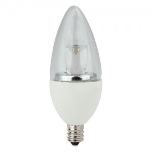 NaturaLED 5837 LED5CAB/32L/E12/27K 5W Candelabra LED, E12 Base, 325 lumens, 40W equivalent, 2700K, Dimmable, 80CRI, 25000 Hours