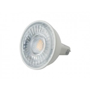 NaturaLED 5937 LED7MR16/50L/FL/830 7W MR16 LED, GU5.3 Base, 500 lumens, 50W equivalent, 3000K, Dimmable, 80CRI, 25000 hours.