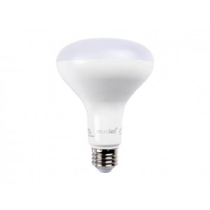 NaturaLED 5983 LED9BR30/71L/950 9W BR30 LED, E26 Base, 715 lumens, 65W equivalent, 5000K, Dimmable,90CRI, 25000 Hours.