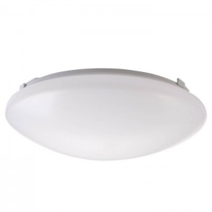 "NaturaLED 7156: 14W Flush Mount - FMR Round, 1,143 lumens, 4000K, 12"", 100W equivalent, Flood Beam Spread, White, Dimmable, Damp, ES, 50,000 Hours"