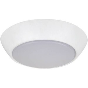 "NaturaLED 7455: 10W Flush Mount  FMC Compact, 700 lumens, 4000K, 7"", 75W equivalent, Flood Beam Spread, White, Dimmable, Wet, ES, 50,001"