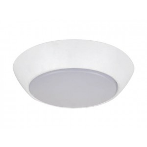 "NaturaLED 7456: 10W Flush Mount  FMC Compact, 700 lumens, 5000K, 7"", 75W equivalent, Flood Beam Spread, White, Dimmable, Wet, ES, 50,002"