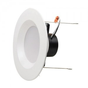 """NaturaLED 7691: 15W Retrofit Recessed Light,1,100 lumens, 3000K, 5""""/6"""", 120W equivalent, Flood Beam Spread, White, Dimmable, Damp, ES, 50,000 Hours"""