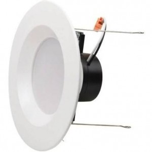 """NaturaLED 7692: 15W Retrofit Recessed Light,1,100 lumens, 4000K, 5""""/6"""", 120W equivalent, Flood Beam Spread, White, Dimmable, Damp, ES, 50,000 Hours"""