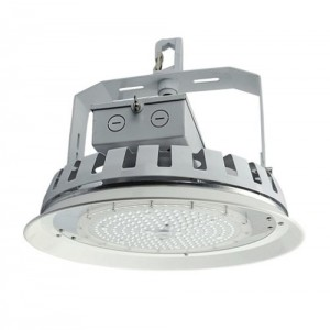 "NaturaLED 7695: 75W Round High Bay / Low Bay  ""Occupancy / Motion Sensor Compatible"", 10,222, 5000K, 16"", 250W equivalent, 90"