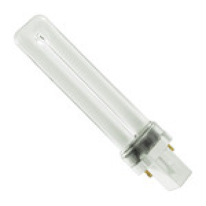 PHILIPS 2-pin 7W CFL Compact Flourescent G23 Base 4000k cool white PL-S 7W/841/2P/ALTO