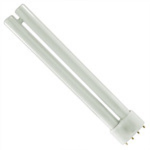 PHILIPS 4-pin 24W CFL Compact Flourescent 2G11 Base 3000k PL-L 24W/830/4P