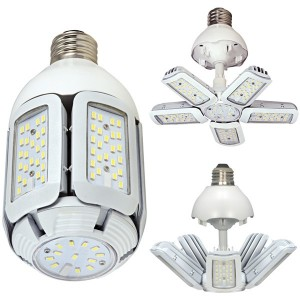 Satco S9752 60W LED HID Replacement 5000K Medium Base Adjustable Beam Angle 100-277V Light Bulb