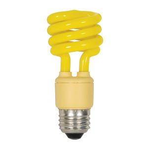 Satco 13W T2 CFL Spiral Party Bulb Yellow S7267