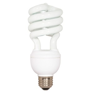 Satco 12/20/26W 3-Way CFL Spiral 2700K Med Base S7341