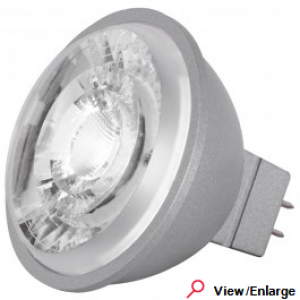 Satco S8643 Dimmable MR16 8 Watt 4000K 12V GU5.3 8MR16/LED/40'/40K/40CRI/12V