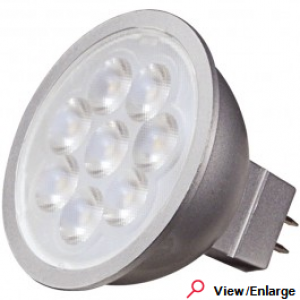 Satco S9498 Dimmable MR16 6-1/2 Watt 4000K 12V GU5.3 6.5MR16/LED/40'/40K/40CRI/12V