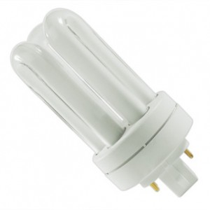 13W Sylvania 4-pin Triple Tube CFL Flourescent 2700K Warm White GX24q-1 Base  CF13DT/E/827