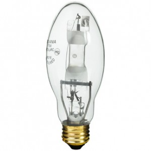 Sylvania 64479 175W Metal Arc Metal Halide ED17 Medium Base 4000K Cool White M175/U/M