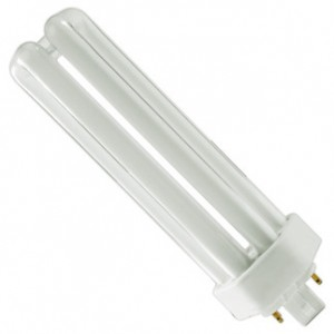 42W Sylvania 4-pin Triple Tube CFL Fluorescent ECO 3500K Halogen White GX24q-4 CF42DT/E/IN/835/ECO