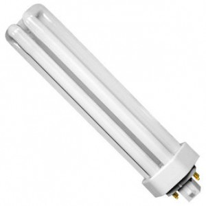 57W Sylvania 4-pin Triple Tube CFL Fluorescent ECO 3500K Halogen White GX24q-5 CF57DT/E/IN/835/ECO