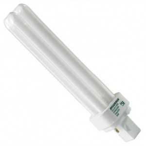 26W Sylvania 2-pin Double Tube CFL Flourescent ECO 3500K Halogen Light G24d-3 Base CF26DD/835/ECO